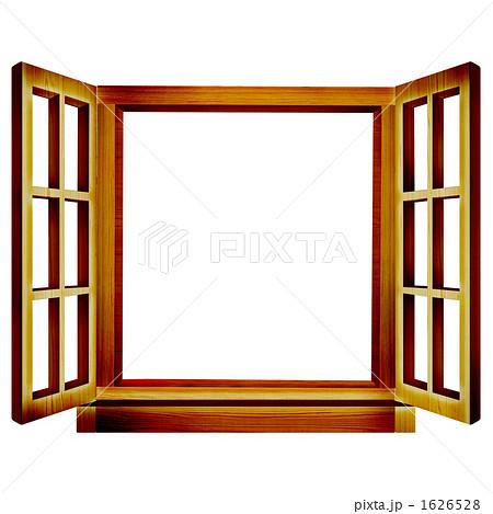 窓際 フレームのイラスト素材 Pixta