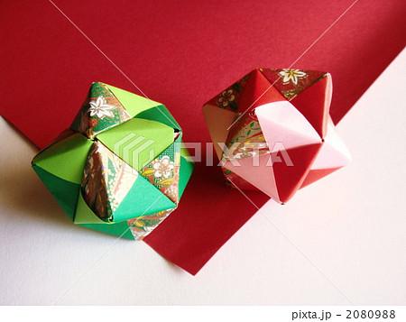 ハート 折り紙 和 折り紙 : pixta.jp