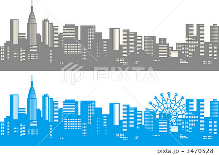 都会 都市 ビル群 開発のイラスト素材 Pixta