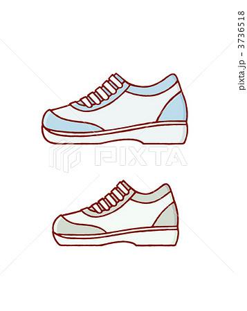 スニーカー 靴 スポーツシューズ ファッショングッズのイラスト