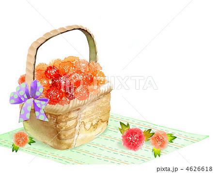 花かご イラストの写真素材 Pixta