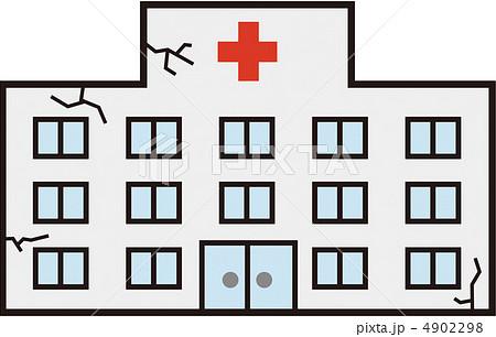 病院 老朽化 イラスト 建物の写真素材 , PIXTA