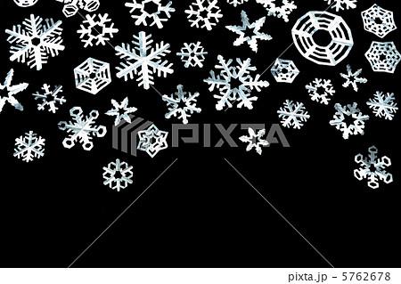 ハート 折り紙:雪の結晶 折り紙 切り絵-pixta.jp