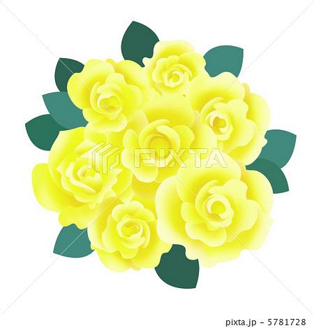 黄色いバラ バラの花束 黄色のバラ 黄バラの写真素材