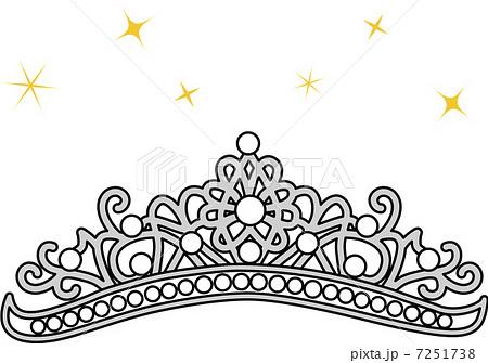 ティアラ 王冠 イラストのイラスト素材 Pixta
