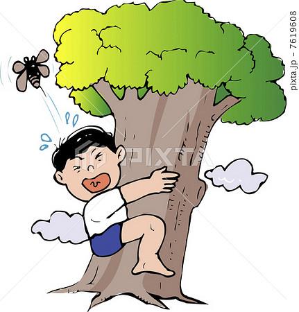 木登り 男の子 子供 男子のイラスト素材 Pixta