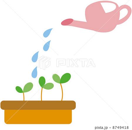 水やり じょうろのイラスト素材 Pixta