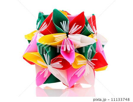 紙 折り紙 色紙 折り紙 飾り : pixta.jp
