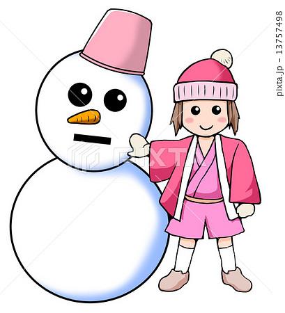男の子 雪男 イラスト 雪のイラスト素材 Pixta