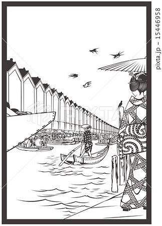 日本橋のイラスト素材 Pixta