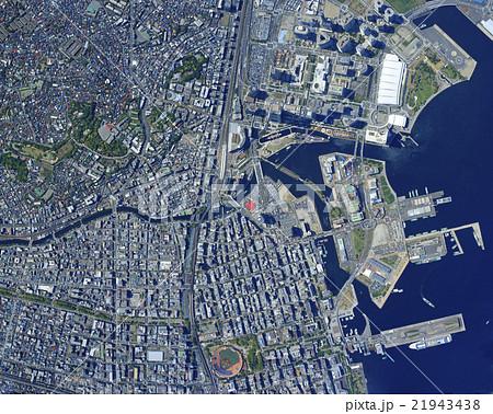 横浜港 横浜 航空写真 港の写真...