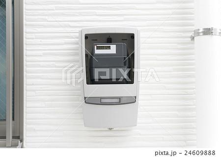 デジタル電気メーターボックスの写真素材 , PIXTA