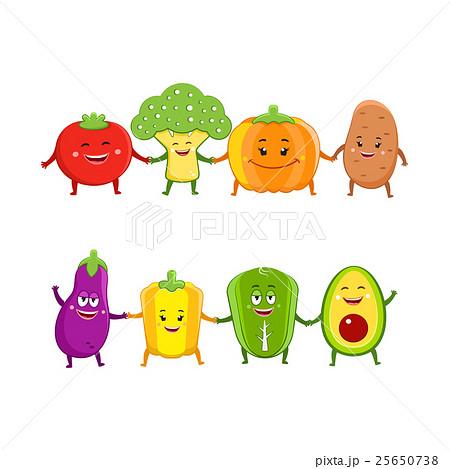 野菜 かわいい イラスト デザインのイラスト素材 Pixta