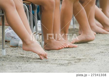 組体操 足 運動会 子供の写真素材