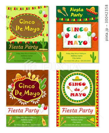 メキシコ 独立 自立 グリーティングのイラスト素材 pixta