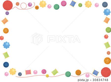 囲み飾りカラフルな手芸小物のイラスト素材 30834748 Pixta