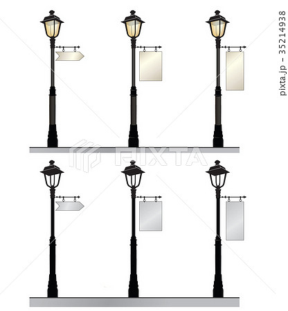 ガス灯 街灯 ライトのイラスト素材 Pixta