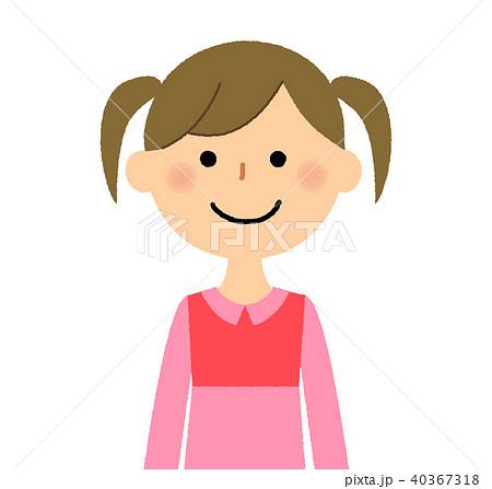 子供 女の子 笑顔 ツインテールのイラスト素材 Pixta