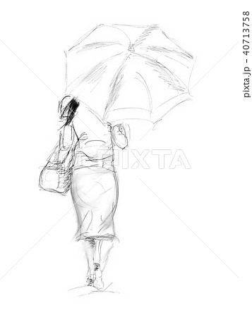 女 絵 描く 後姿のイラスト素材 Pixta