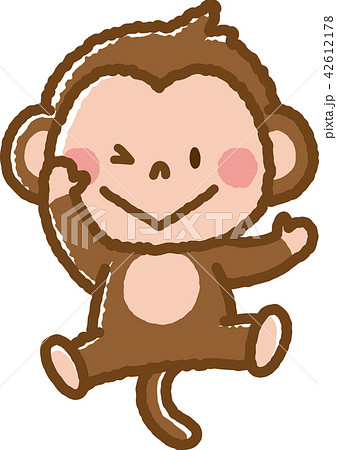 猿のイラスト申年 かわいいフリー素材集 いらすとや