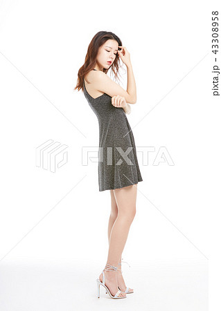 Female One Piece Poses Dresses Photos Pixta
