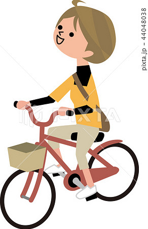 かわいい イラスト シンプル 自転車のイラスト素材 Pixta