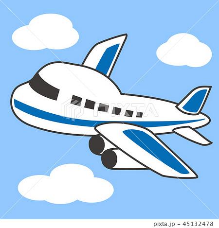 かわいい イラスト 飛行機のイラスト素材 Pixta