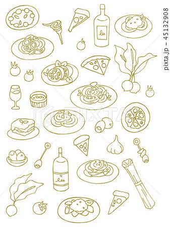イタリア料理イタリアンのイラスト素材集 Pixtaピクスタ