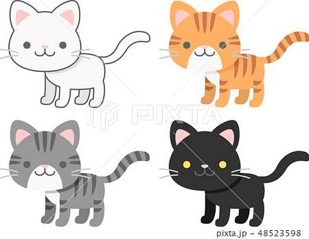 猫 子猫 アメリカンショートヘア アメショのイラスト素材 Pixta