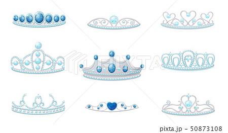 ティアラ 王冠 かわいい イラストのイラスト素材 Pixta