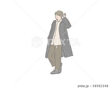 おしゃれ 男の子 ファッション 人物のイラスト素材
